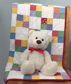 Handmade Baby Quilt, Baby Blanket, Baby Shower Gift, Nursery Bedding, Gender Neutral, Baby Boy Quilt, Baby Christmas, Primary Colors Quilted Baby Blanket, Baby Patchwork Quilt, Patchwork Quilt Patterns, Pink Quilts, Bright Quilts, Bird Quilt, Baby Boy Quilt Patterns, Baby Girl Quilts, Neutral Baby Quilt