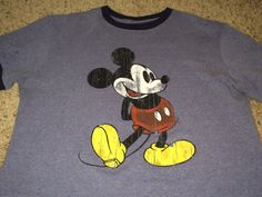 Sale Vintage MICKEY MOUSE casual T shirt Walt Disney by casualisme