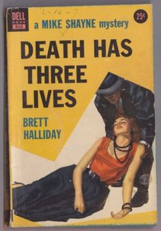 Brett-Halliday-Mike-Shayne-Death-Has-Three-Lives-Dell-865-William-George-cover