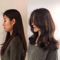 Medium Hair Cuts, Medium Hair Styles, Curly Hair Styles, Haircuts For Long Hair, Straight Hairstyles, Korean Hairstyles Women, Redhead Hairstyles, Asian Hairstyles Women, Spring Hairstyles
