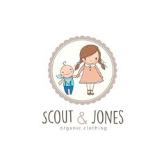 Logo design made for an organic baby and children clothes store.
