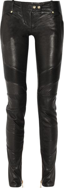 There they are! Black Balmain Skinny Leather Pants in Black - Lyst... only $3500. Poo :(