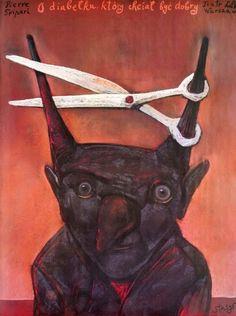 The Good Little Devil O diabelku, ktory chcial byc dobry Eidrigevicius Stasys Polish Poster