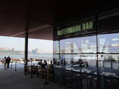 Watermark Bar and Lounge at Pier 15, Financial District NYC -- At Pier 15, by South Street Seaport, Imagination Playground, the Esplanade, and of course, both of our Financial District residences (45 Wall Street and 2 Gold Street), things are looking good out there on the Hudson River.