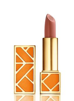 Pretty lip color from the new Tory Burch beauty collection.