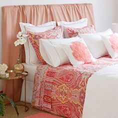 Image 3 of the product Coral Paisley Print Bed Linen