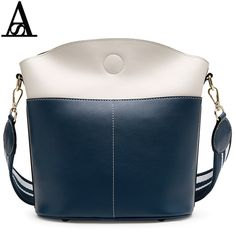 AITESEN Large Capacity Louis Bucket Leather Bag Minimalist Style Panelled shoulder Bag Fasion Women Crossbody Bag New Collection
