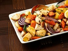 This roasted root vegetables recipe brings out their delicious sweetness and a sprinkling of fresh herbs adds just the right complementary touch.