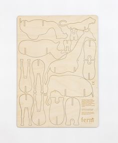 ferm LIVING KIDS - 3017 Plywood Animals