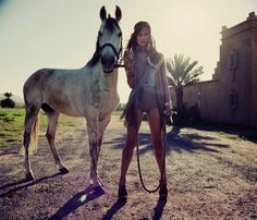 love the rope + horse + light + everything