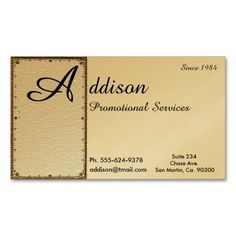 Elegant Large Initial Gold Business Cards
