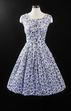 1950's Print Party Dress