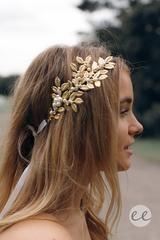 athena headpiece - gold - Esther Boutique