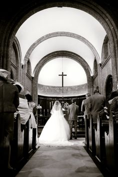 @ Church just before saying our vows