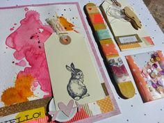 Diario de Loneta: correo primavera rosa #correo #snailmail #happymail #bunny #tarjeta #washitape #tag