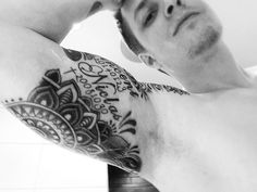 Half sleeve continued. Mandala blackandwhite Ink