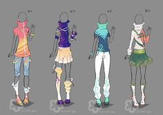 Colorful Outfit Designs - sold by Nahemii-san.deviantart.com on @deviantART