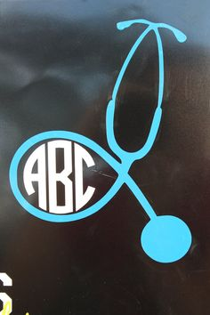 Monogrammed Stethoscope Decal on Etsy, $8.00