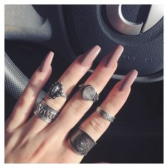 Miss my pink nails already  #nails #pinknails #nailart #fblogger #fblogger #ringstack
