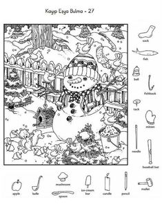 Prints full page - kelly mason - SiePin Christmas Activities, Preschool Activities, Christmas Fun, Highlights Hidden Pictures, Hidden Pictures Printables, Hidden Picture Puzzles, Hidden Object Puzzles, French Lessons, Spanish Lessons