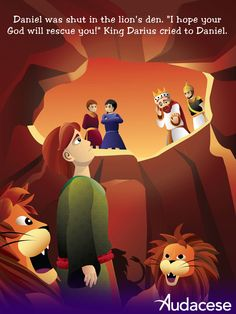 Daniel has been shut into the lions' den. Will he survive the night? Look for the #Audacese Daniel and the Lions iPad app in early 2013.
