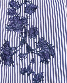 Image 7 of STRIPED EMBROIDERED SHIRT from Zara