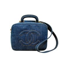 Chanel Denim Cosmetic Bag Strap ($1,099) ❤ liked on Polyvore featuring bags, chanel and purses
