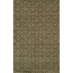 Hand-loomed in India of 100-percent wool, this open-backed rug is a versatile addition to any home decor. This solid sage green rug features a tonal link pattern and a plush 0.5-inch pile.