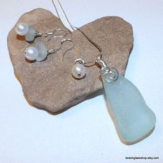 Sea Glass Beach Glass Pale Blue Green Chunky by beachglassshop, $54.00