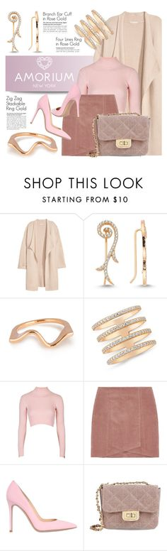 """AMORIUM.com"" by monmondefou ❤ liked on Polyvore featuring Kofta, Amorium, Topshop, Gianvito Rossi, George J. Love, women's clothing, women, female, woman and misses"