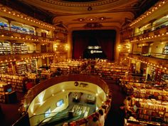 One of my favorite book stores in Buenos Aires: El Ateneo