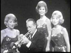 Ohio's three singing McGuire Sisters join Harry James and his Orchestra to perform a medley of James' hits: I Had the Craziest Dream, Ciribirbin, I've Heard . Jazz Trumpet, Trumpet Music, Hollywood Music, Glenn Miller, Cool Jazz, Harry James, Old Music, Weird Dreams, Jazz Musicians