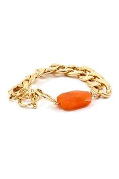 stone bracelet <3 my cousin Aida would love this bracelet too....it's orange!:)