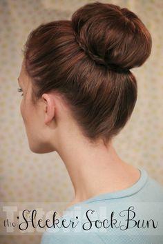The Freckled Fox : Hair Tutorial: The Sleeker Sock Bun
