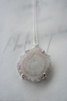 Pale Pink Stalactite Necklace