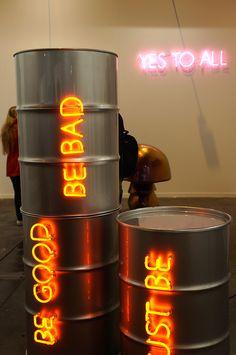 """Be good, Be bad, Just be"" Sylvie Fleury Sylvie Fleury, Illustration Art, Illustrations, Screenprinting, Pop Art, Neon Signs, Good Things, Twitter, Art Fair"
