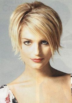 short hairstyles for fine thin hair and round face