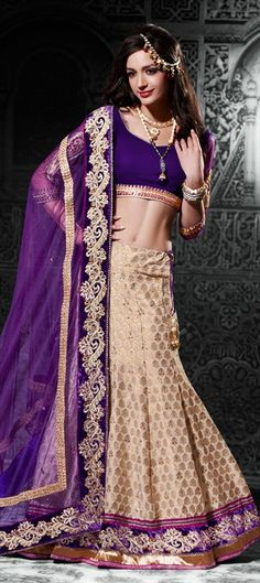 106655:   #WeLove Vikram Phandis collection at Rajasthan Fashion Week'13. Find similar Brocade Lehenga here.