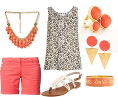 """coral & Leopard"" by courtney-jones-ii on Polyvore"