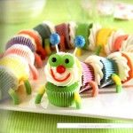 what little one wouldn't love a cupcake caterpillar?!