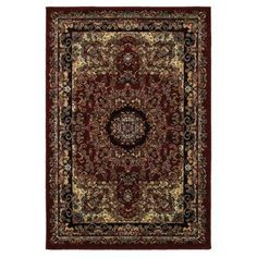 LR Home Grace Red and Black Indoor Runner Rug(2'1 inch x 7'5 inch)