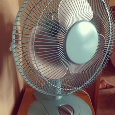 Transform a boring white fan into a fun home accessory with a little spray paint. Cheap & easy!