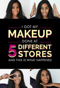 Nina Mohan asked five makeup artists at different counters to give her glam makeovers to see how differently cosmetics are perceived.