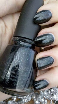 """""""Smoke and Ashes"""" nail polish by China Glaze. Capital Colours - The Hunger Games Collection. This one represents District 12 - Mining and is absolutely gorgeous!"""