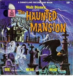 Disney record and book of the Haunted Mansion