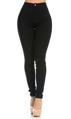 Waist Jeans skinny Super High Waisted Stretchy Skinny Jeans in Black (Plus Size Available) Super skinny stretch taille haute en noir (Plus Size Available) Jeans Skinny, Distressed Skinny Jeans, Ripped Jeans, Black Skinny Jeans Women, Women's Jeans, Jeggings Outfit, Soho, High Waisted Black Jeans, High Waist Jeans