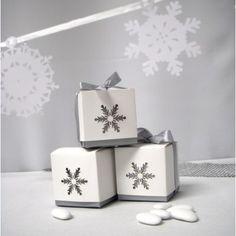 La boîte dragées flocon grand format #decotablenoel