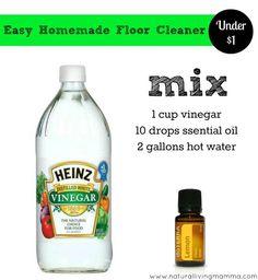 Easy homemade floor cleaner