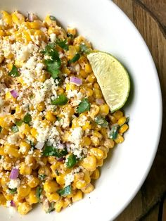 Fixate Recipes, Healthy Recipes, Beachbody 21 Day Fix, Main Dishes, Side Dishes, 21 Day Fix Diet, Mexican Street Corn Salad, Taco Bar, Corn Salads
