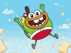 Casual pic of Buhdeuce. Catch the new episode of Breadwinners tomorrow at 6 pm EST on nicktoons!!!